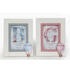 An assortment of 2 Hot Air Balloon Baby Photo Frames