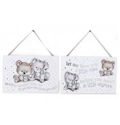 these hanging signs will be a perfect accessory to any bedroom space