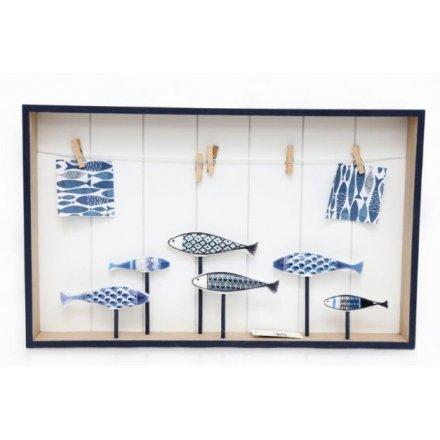 Decorative Fish Hanging Peg Board