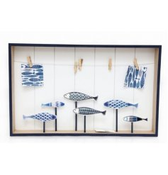 A Fish Themed Deco Hanging Peg Board