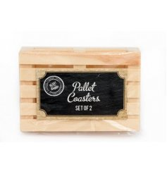 Bring an industrial edge to your home interior with this chic and simple pallet themed coasters