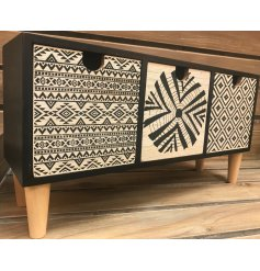 Invite a Pure and Warm sense to your home space with this chic set of wooden draws