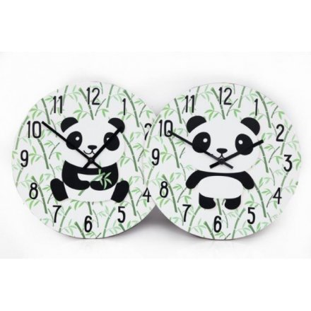 Printed Panda Wall Clocks