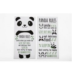 An assortment of 2 Panda Quote Canvas