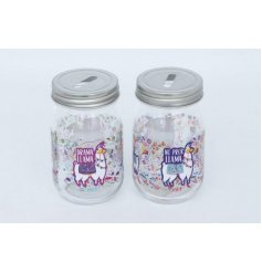 Add a colourfully creative twist to your decor with this funky assortment of glass money jars