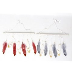 Add a calming and comforting sense to your home interior with this assortment of hanging feather decorations