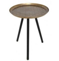 Add a charmingly distressed edge to any home interior with this beautiful Luxe inspired side table