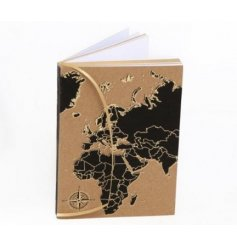An A6 World Map Notebook