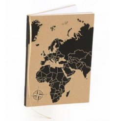 An A5 World Map Print Notepad