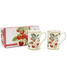 this beautifully decorated set of Fine China Mugs will place perfectly in any kitchen space