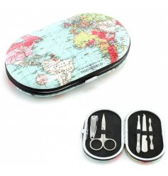 A World Traveller Print Manicure Set
