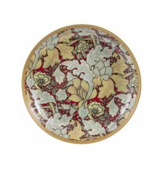 A William Morris Inspired Autumn Floral Print Trinket Dish