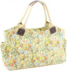 A William Morris inspired Golden Lily Tote Bag