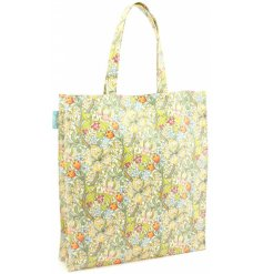 A large shopper bag featuring a William Morris Golden Lily Print