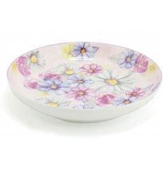 A Pink Daisy Round Trinket Dish