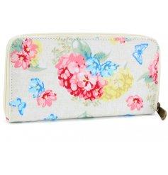 A Floral Hydrangea Wallet