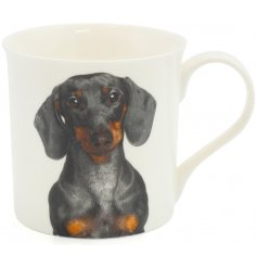 Part of the wide Leonardo Collection is this charming Fine China Mug with a printed Dachshund Design