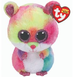 This brightly coloured patched soft toy will be sure to entertain little ones!