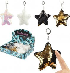 Bring a sparkling glittery touch to your handbag or keyset with this funky assortment of sequin star keyrings