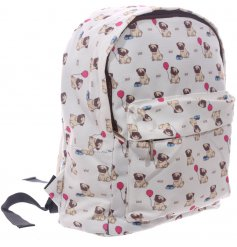 Travel around in style with this sweet printed fabric backpack