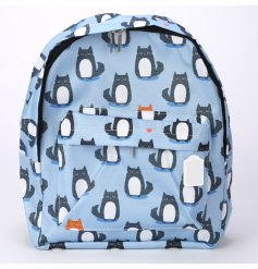 Feline Fine backpack with padded straps and zip pocket