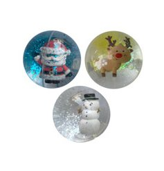 A mix of novelty Christmas LED flashing bouncy balls including your favourite characters.
