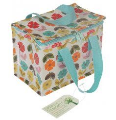 A Mid Century Poppy Print Lunch Bag