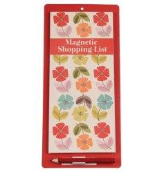 Bring some colour to your kitchen space with this colourfully floral printed shopping list