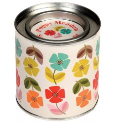 Bring the sweet scents of summer into your home interior with this indulgently scented candle in a tin