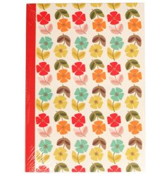 Part of our new Mid Century Poppy range is this charmingly colourful paper notebook
