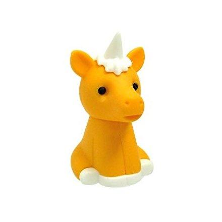Iwako Orange Unicorn Eraser