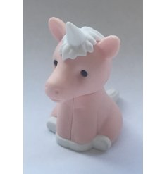 A mystical and magical Unicorn Character eraser in a bright pink tone, perfectly topped with an enchanting horn to ma