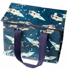 Pack your little ones an out of this world lunch using this fun Retro themed lunch bag!
