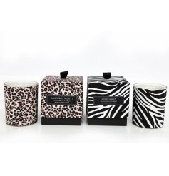 Bring the wild nights of the Savannah into your home space with these beautifully printed candle pots