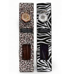 A mix of 2 animal print incense sticks. Beautifully scented and packaged gift items for the home.