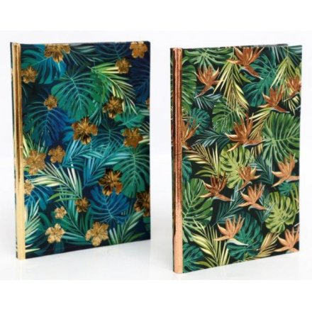 Golden Leaf A6 Notebooks