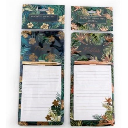 Golden Leaf Magnetic Memopads
