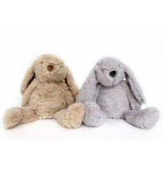 An adorable assortment of sitting bunny doorstops with added fuzzy fur