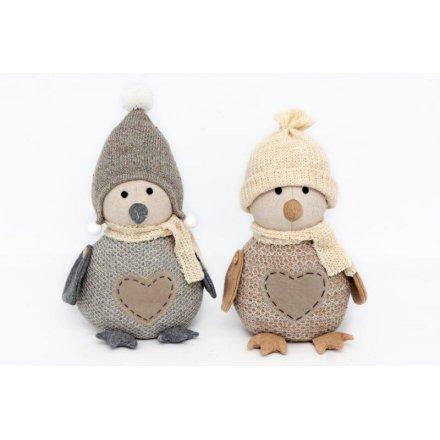 Brown/Cream Penguin Doorstops