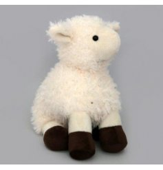 An adorable little doorstop with a fuzzy lamb design