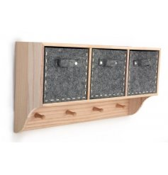 Bring a fresh natural look to your interior spaces with this stylish wooden wall unit