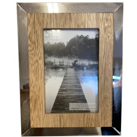 Wf2222 Mirrored Edge Wooden Frame 4x6 41364 Photo Frames