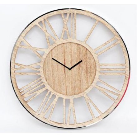 Wooden/Silver Clock