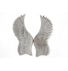 A stunning set of angel wings. A beautiful wall art decoration for the home.