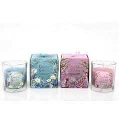 """Fill your home with the sweet floral fragrance of these """"Country Garden"""" & """"English Meadow"""" scented candle pots"""