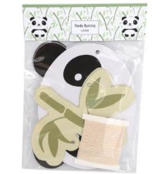With the assortment of panda heads and bamboo leaves, this bunting can be styled any way you want