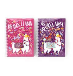 Bring a splash of colour to your note taking or journal writing with this fun assortment of Llama themed A5 notebooks
