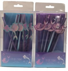 A fun and mystical inspired assortment of drinking straws, perfect for Mermaid Parities and events!