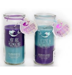 Bring a beautifully sweet smelling sense to your home interior or bedroom space with these ocean inspired scented candl