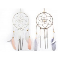 Add a beautiful chime to your front porch, garden or interior with these hanging Dreamcatcher Windchimes